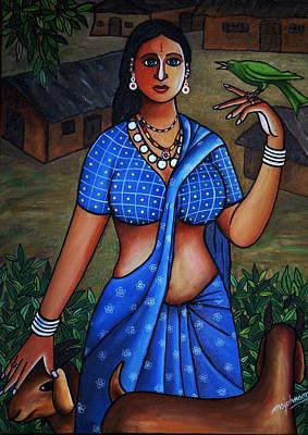 Village Girl Print by Johnson Moya