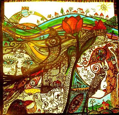 Village Hidden Deep In One Strange Dream Art Print