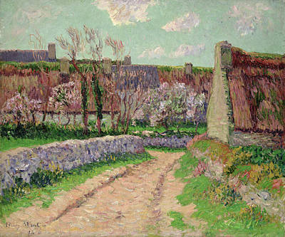 Village In Clohars Art Print by Henry Moret