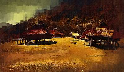Village In Northern Burma Art Print