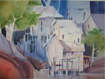 Painting - Village by John Brisson
