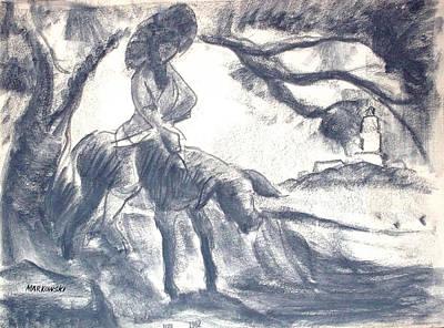 Village Mother And Child Art Print by Bill Joseph  Markowski