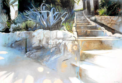 Lin Painting - Villefranche Garden by Lin Petershagen