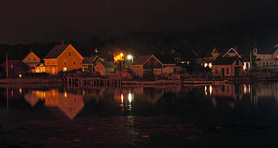 Photograph - Vinalhaven Island At Night by Glenn Gordon