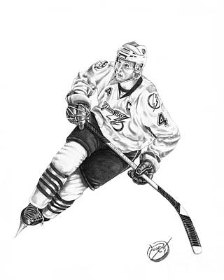 Hockey Drawing - Vincent Lecavalier by Murphy Elliott