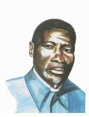 Vincent Mulago Art Print by Emmanuel Baliyanga