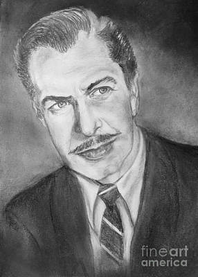 Drawing - Vincent Price by Elisabeth Dubois