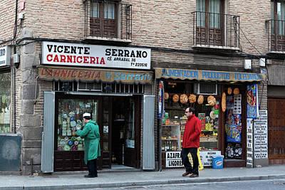 Photograph - Vincente Serrano Carniceria by Lorraine Devon Wilke