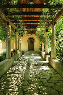 Claremont Photograph - Vine Covered Walkway by Steven Ainsworth