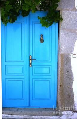 Door Painting - Vine Over Door by Therese Alcorn