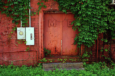 Art Print featuring the photograph Vines Block The Door by Paul Mashburn