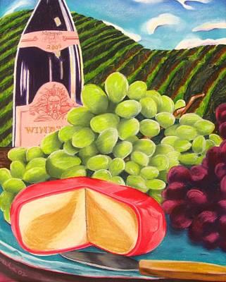 California Hills And Vines Painting - Vineyard Still Life by Michelle Hayden-Marsan