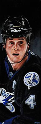 Hockey Painting - Vinny Lecavalier by Marlon Huynh