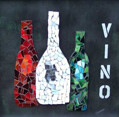 Vino Mixed Media - Vino by Nancy ELeGant
