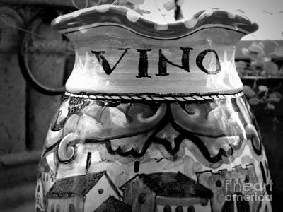 Italian Pottery Photograph - Vino by Tanya  Searcy