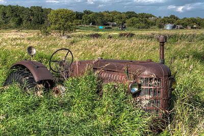 Vintage - Massey Harris Tractor Art Print by Matt Dobson