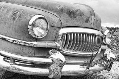 Photograph - Vintage 1951 Nash Ambassador Front End 2 Bw by James BO  Insogna