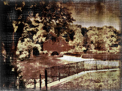 Mixed Media -  The Red Mill Museum Clinton Nj  by Femina Photo Art By Maggie
