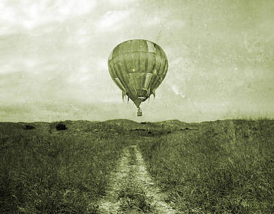 Festival Photograph - Vintage Ballooning by Betsy Knapp