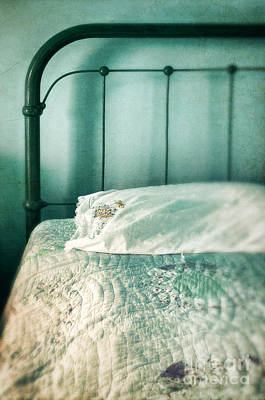 Bed Quilts Photograph - Vintage Bed by Jill Battaglia