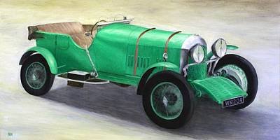 Vintage Car Painting - Vintage Bentley by Ronald Haber