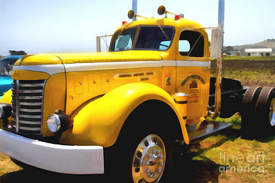 Photograph - Vintage Big Rig . 7d15483 by Wingsdomain Art and Photography