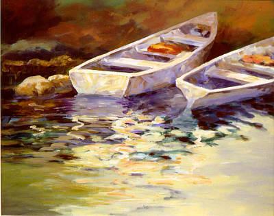 Vintage Boats Art Print by David Rickert