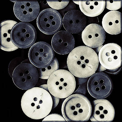 Vintage Buttons Art Print by Bonnie Bruno