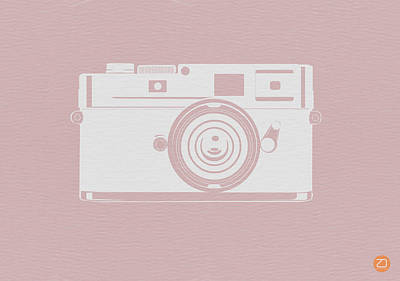 Camera Digital Art - Vintage Camera Poster by Naxart Studio