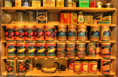 Vintage Canned Goods - General Store Vintage Supplies - Nostalgia Art Print by Lee Dos Santos