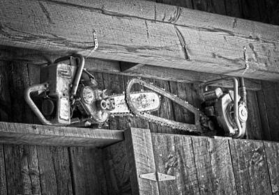 Photograph - Vintage Chain Saws by Steve McKinzie