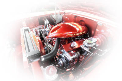 Photograph - Vintage Chevy Engine by Anthony Rego