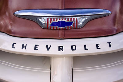 Chevrolet Truck Photograph - Vintage Chevy Truck by Carol Leigh