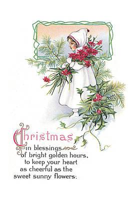 Vintage Christmas Blessings Art Print