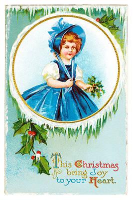 Vintage Christmas Joy Art Print