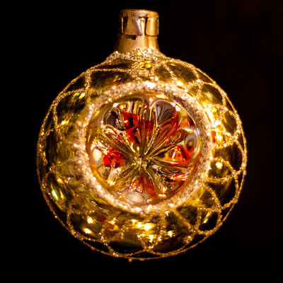 Photograph - Vintage Christmas Ornament by David Patterson