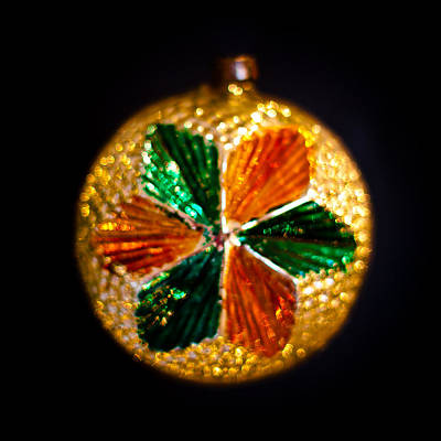 Glass Photograph - Vintage Christmas Ornament Vi by David Patterson