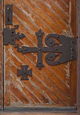 Photograph - Vintage Church Door by Peggie Strachan
