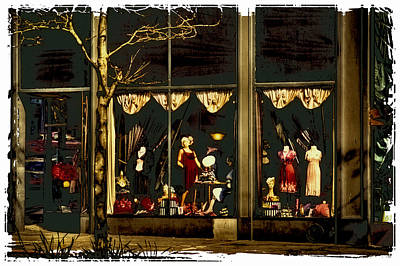 Dress Shop Photograph - Vintage Clothing Store - Pioneer Square by David Patterson