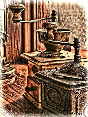 Photograph - Vintage Coffee Hand Mill  by Alexandra Jordankova