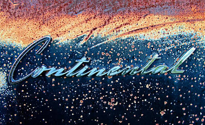 Photograph - Vintage Continental Car Emblem by Tony Grider