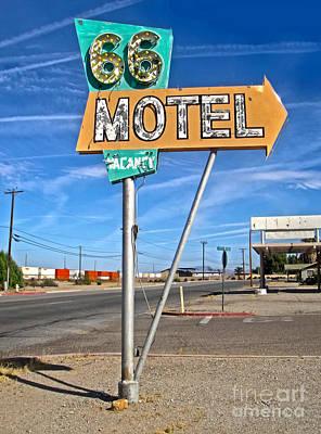Vintage Desert Motel Sign Art Print by Gregory Dyer