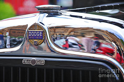 Photograph - Vintage Dodge - Circa 1930's - Badge by Kaye Menner