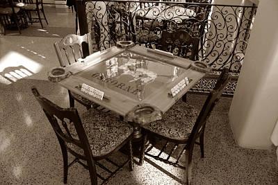 Vintage Domino Table Print by David Lee Thompson