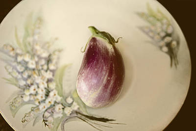 Food Photograph - Vintage Eggplant by Marilyn Hunt