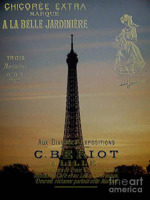 Photograph - Vintage Eiffel Tower by Karen Lewis