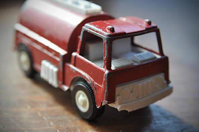Photograph - Vintage Fire Truck 1 by Kathy Schumann