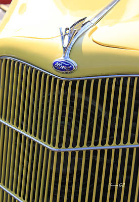 Vintage Ford V8 Grill Art Print by Suzanne Gaff