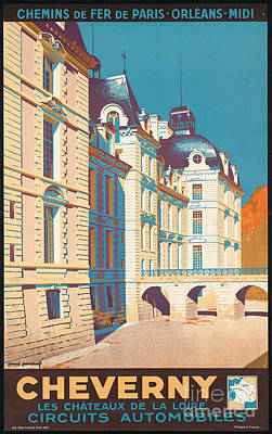 Photograph - Vintage French Travel Poster by George Pedro