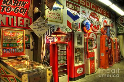 Photograph - Vintage Gasoline Pumps 1 by Bob Christopher